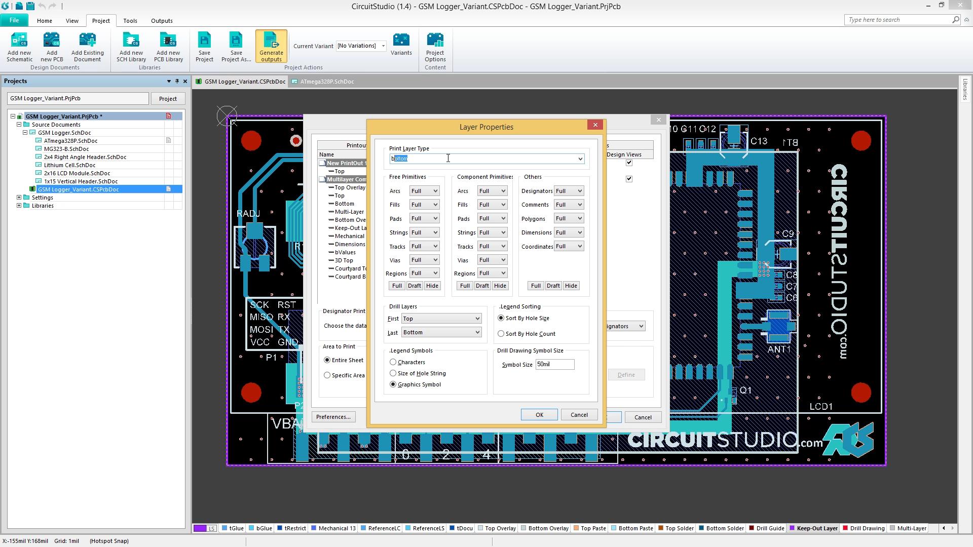 Schematic & PCB Printouts