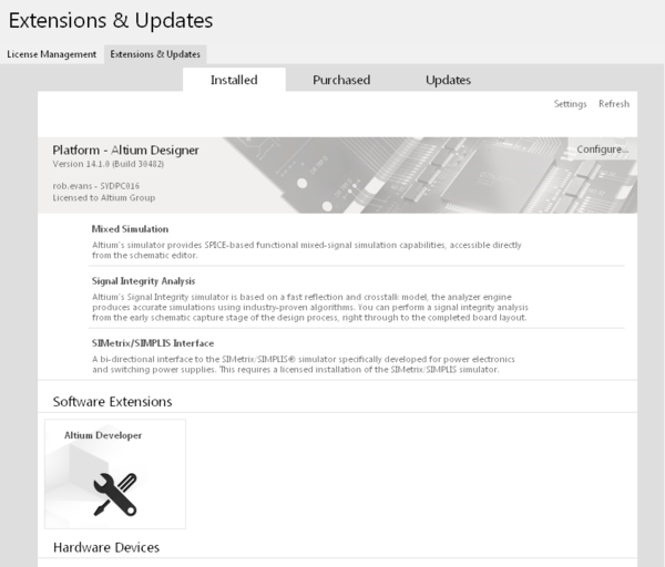 Check for a successful extension install in the Installed tab of the Extensions & Updates page.