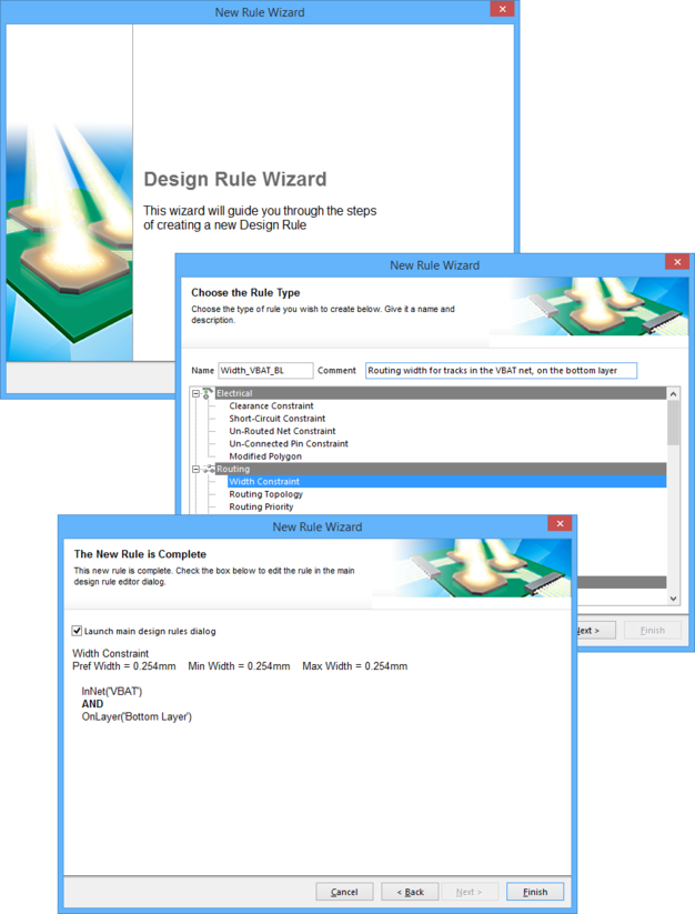 Use the Design Rule Wizard to streamline rule creation.