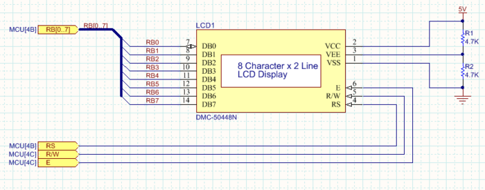 Port Cross References have been added next to each Port, indicating the target sheet and grid reference for the matching Port.