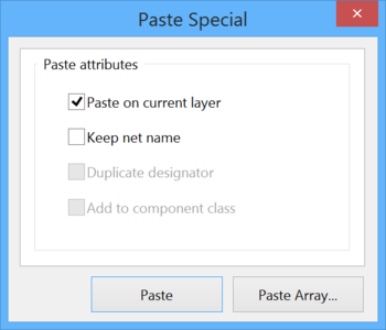 The Paste Special dialog.