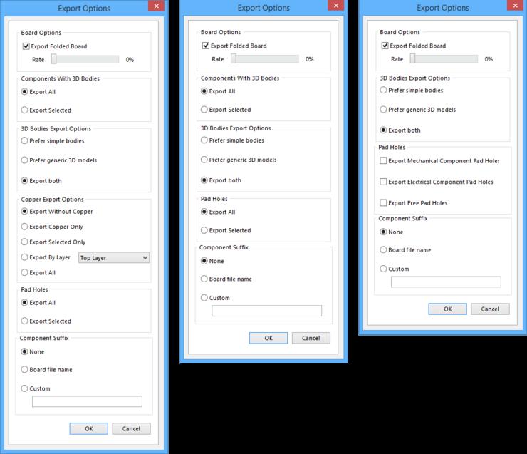 Export Options | Altium Designer 15 1 User Manual