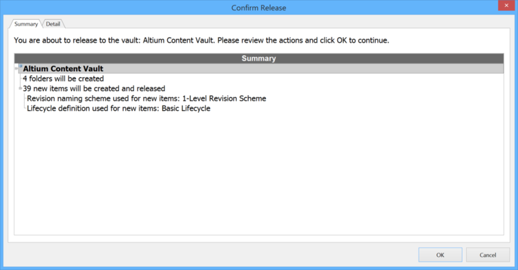 The Confirm Release dialog.