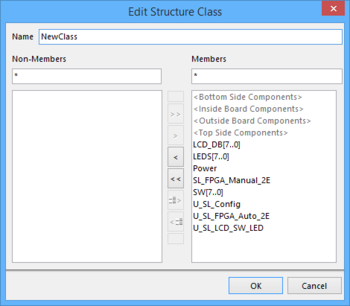 A familiar editing dialog for making changes to a Structure Class as required.