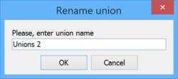 The Rename Union dialog