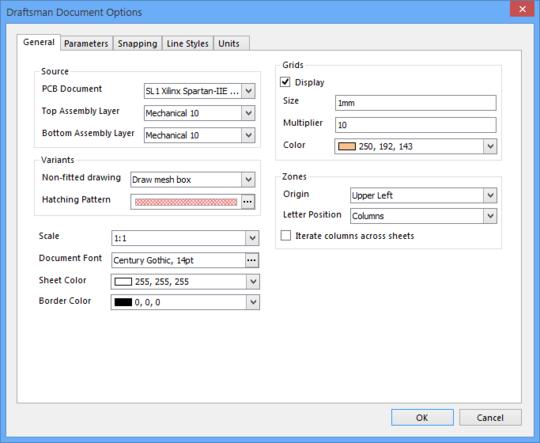 Draftsman文档属性适用于绘图文档的所有页面。