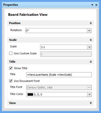 面板自动更改其模式和内容来匹配选择的图纸视图或对象。