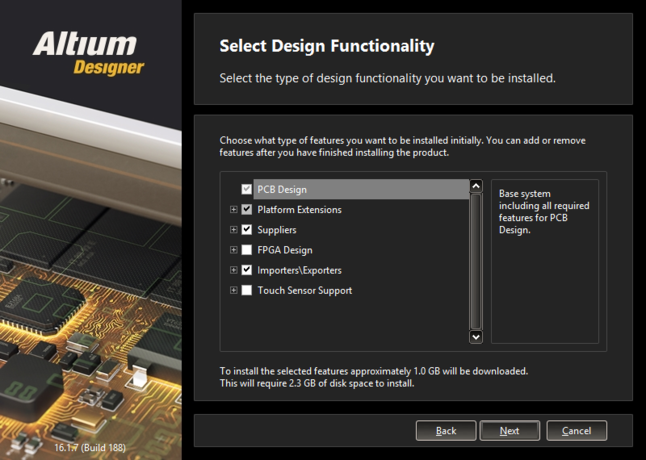 What initial functionality would you like in your installation of Altium Designer? - The choice is yours!