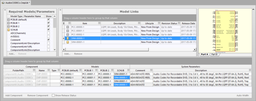 Resulting Component Library document with the downloaded component definitions.