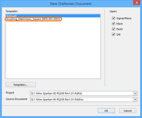 If Draftsman Document Template Items exist, then when signed into the vault they will be presented,  instead of the local templates.