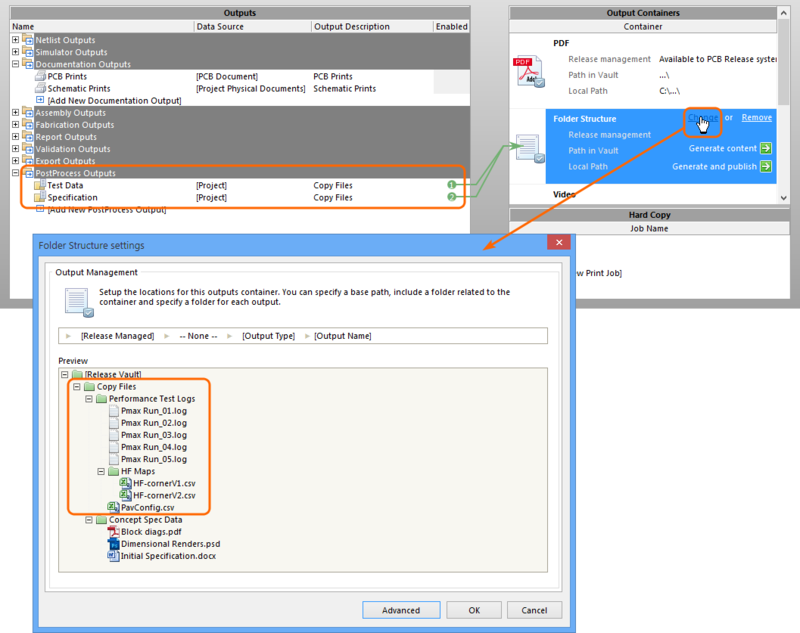 Preview the files that the OutJob entry will collate for the current project using the Container Folder Structure dialog.