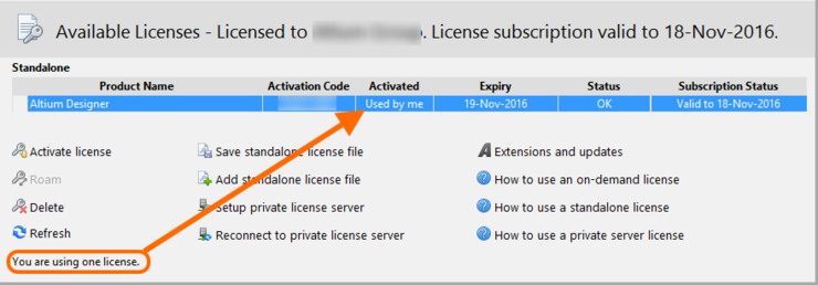 With your Standalone license activated, you can now continue using Altium Designer in a completely 'offline' mode.