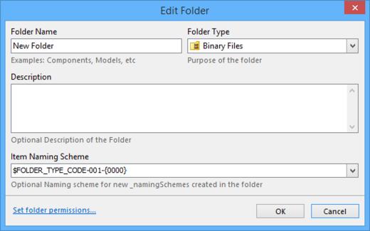 The Folder Properties dialog