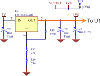 The Example 1 power source circuit – see SL_Power.SchDoc in the Spririt Level project.