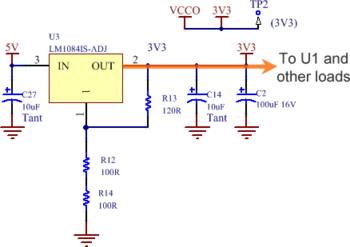 The Example 2 power source circuit – see SL_Power.SchDoc in the Spirit Level project.
