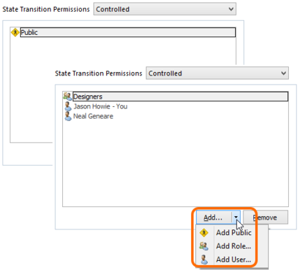 With Controlled permissions, you can switch from public access, to only those users/roles specified.