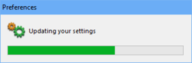 The updating process may be accompanied by Windows confirmation dialogs.