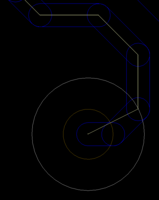 The length calculation is accurately calculated along the centerline of the shortest path, as shown in these 2 images.