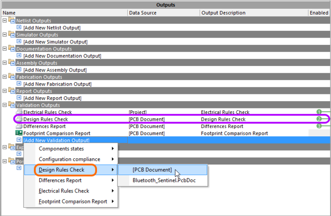 Add a DRC validation report to an Output Job file.