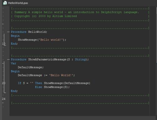A Script Unit with script code.