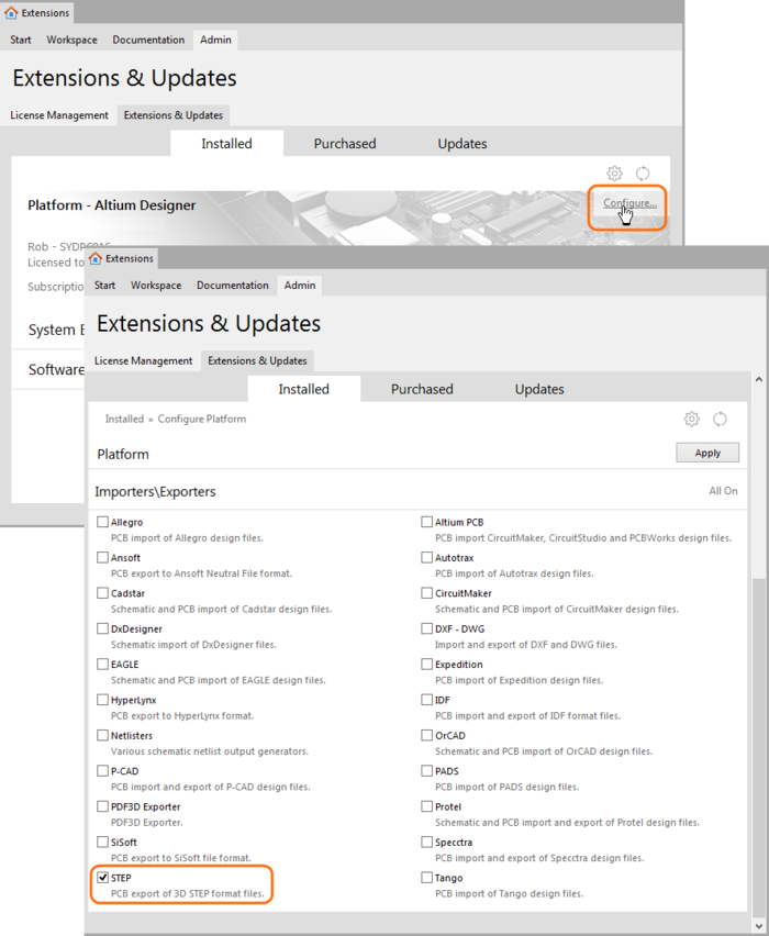 STEP Export-Import   Online Documentation for Altium Products