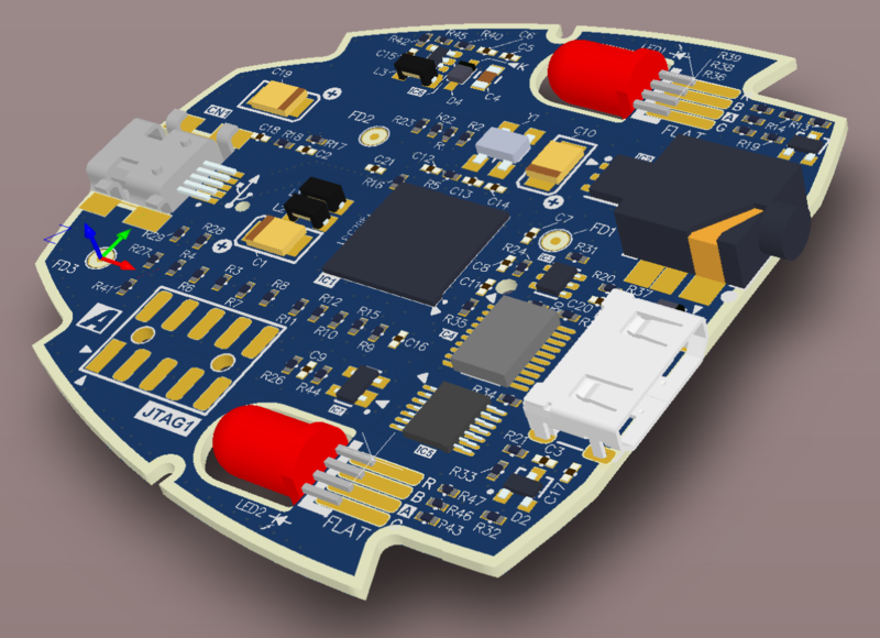 A 150dpi 3D screenshot taken from the PCB editor.