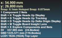 Two examples of the Heads Up Display.