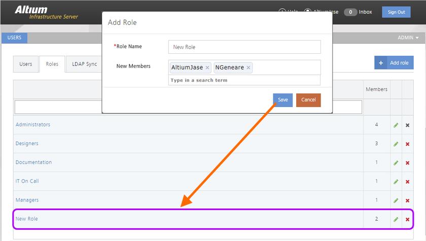 Пример добавления новой роли в список доступных серверу AIS ролей.