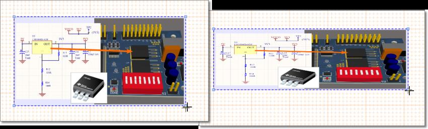 Измените размер объекта Graphic, перетащив его ручку управления. Если соотношение сторон не заблокировано, изображение может быть искажено до любой формы.