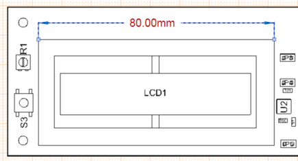 Select and drag the dimension text to a new position.