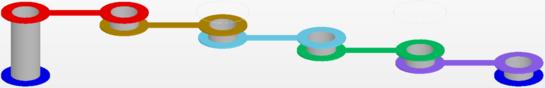 Типовая 6-слойная структура (сверху) и недопустимое расположение переходных отверстий.