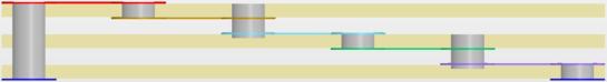 Сверление прилегающего слоя основания и использование точного контроля глубины для размещения переходного отверстия через слой препрега.
