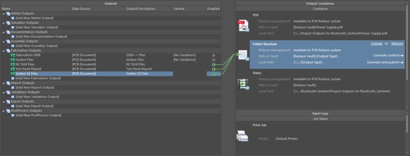 Prepping a Gerber X2 output as part of a configured OutJob.
