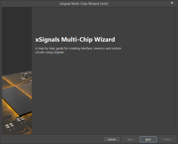The opening page of the xSignals Multi-Chip Wizard
