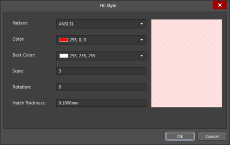 The Fill Style dialog