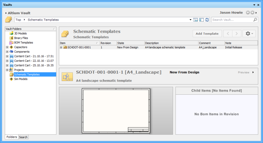 Managed Schematic Templates In An Altium Vault Online
