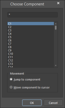 The Choose Component dialog