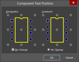 TheComponent Text Position dialog