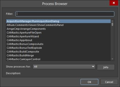 The Process Browser dialog