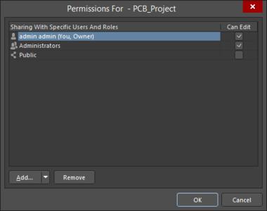 Variations of thePermissions For Folderor Item dialog