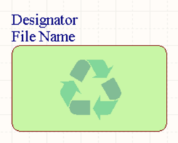 A placed Device Sheet Symbol