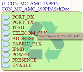 A Placed Managed Sheet Instance Symbol