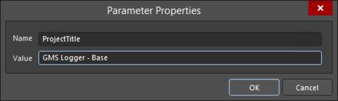 The Parameter Properties dialog