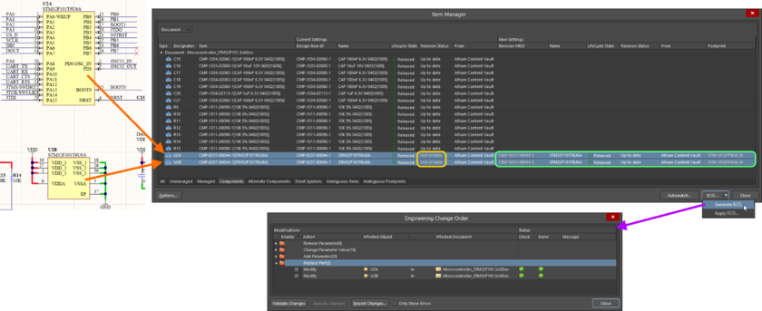 Synchronize the managed items placed on your schematics with their linked source Server Items using the powerful update capabilities of the Item Manager.