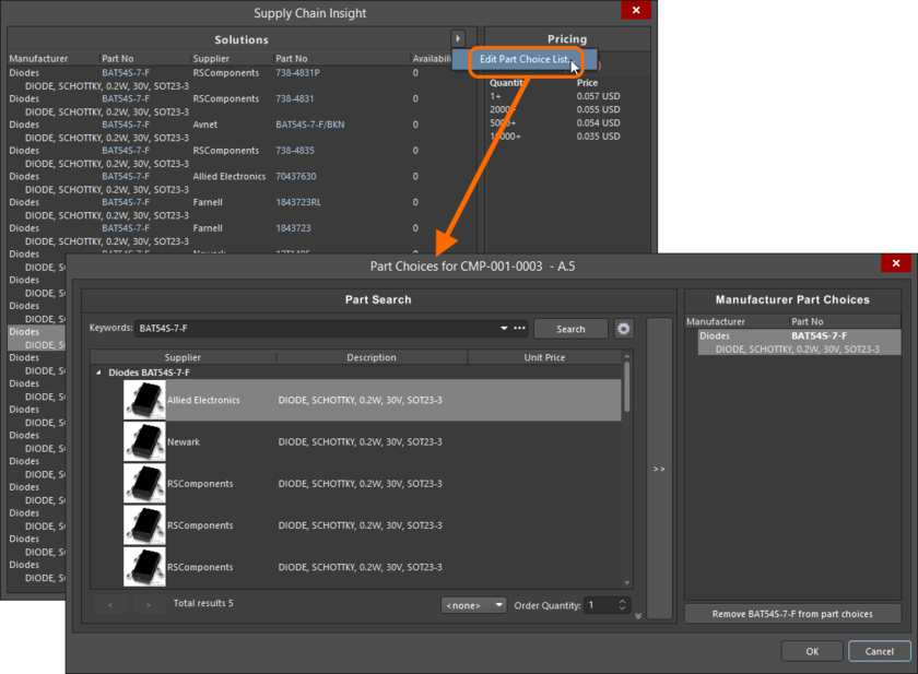 Not happy with current part choices? - make changes as required on-the-fly as you design!