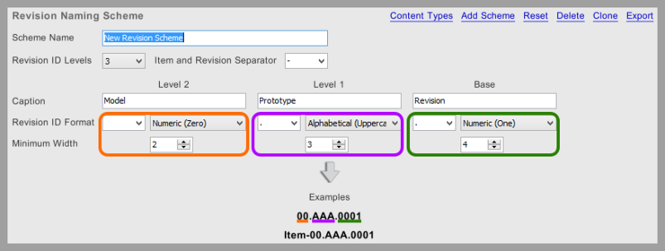 A preview of the resulting ID is presented in the tab, which updates dynamically as changes are made.