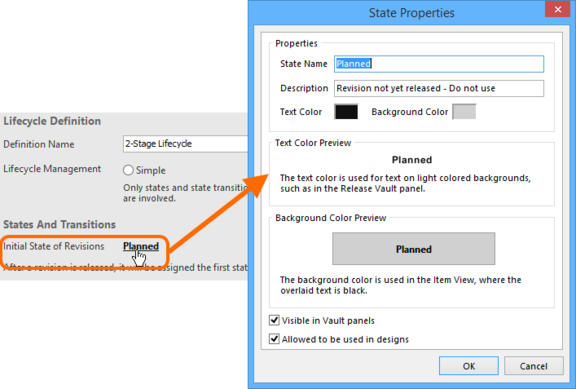 Configure the initial state for revisions.