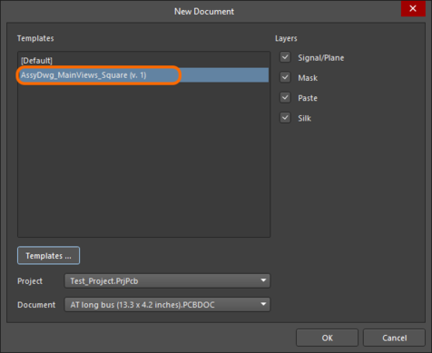 If Draftsman Document Template Items exist, then when signed into the Server they will be presented,  instead of the local (file-based) templates.