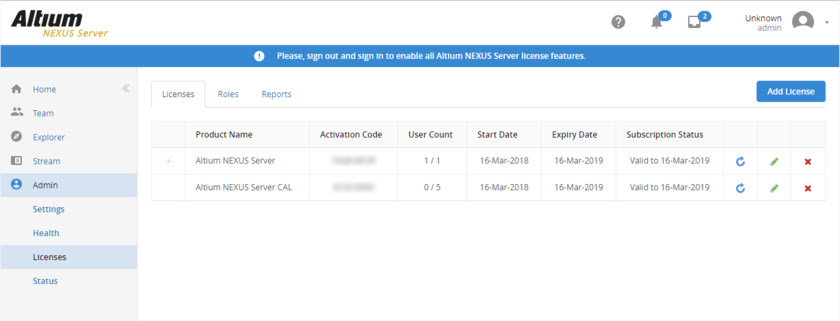 Acquired NEXUS Server licensing - the fastest, and most streamlined method, by which to get your Altium NEXUS Server licensed.