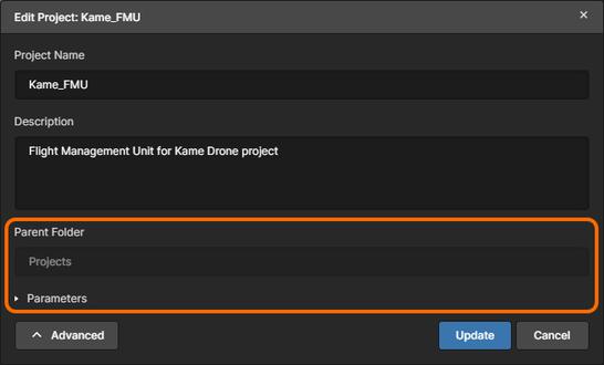 Дополнительные поля доступны по нажатию кнопки Advanced.
